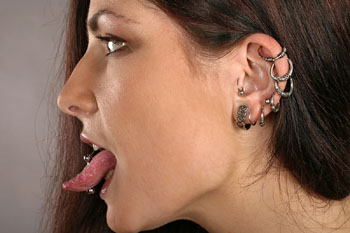 Tongue Piercing Healing