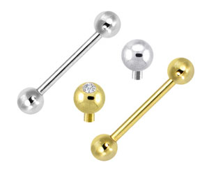 Internally Threaded Tongue Rings
